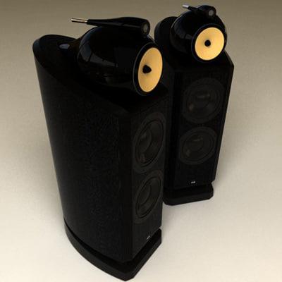 3d model of b w speakers