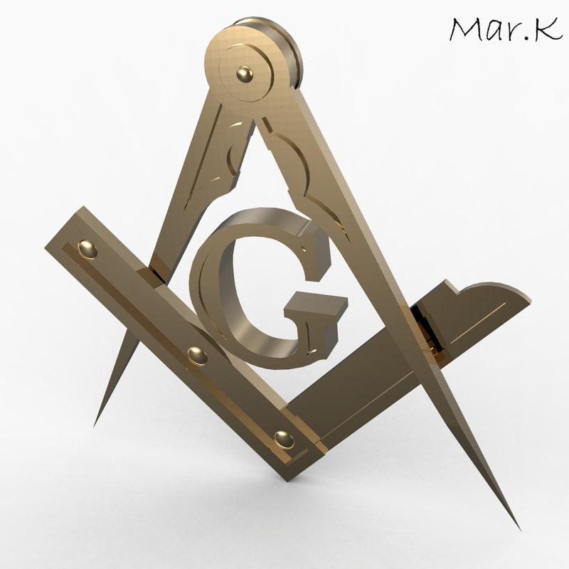 3dsmax masonic compass