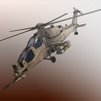 mangusta military helicopter 3ds