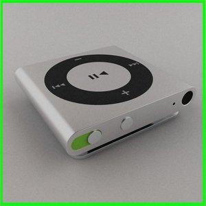 apple ipod shuffle 4g 3d model