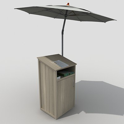 3d podium umbrella