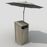 3d podium umbrella