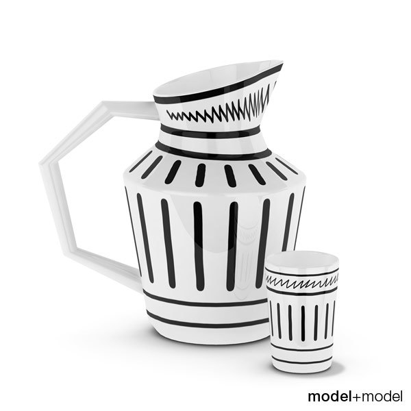 3d 3ds jug cup isi
