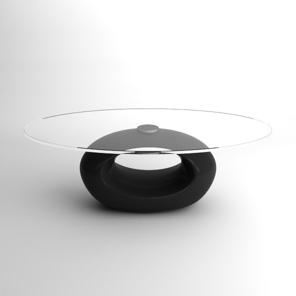 3d modern glass table model