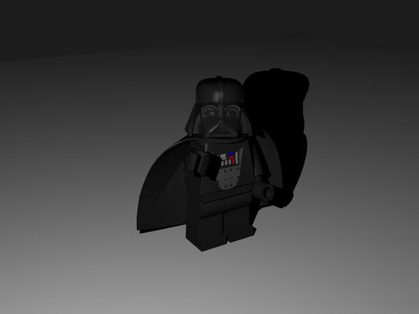 lego darth vader 3d model