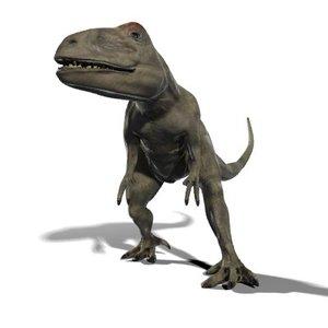 allosaurus dinosaur 3d max