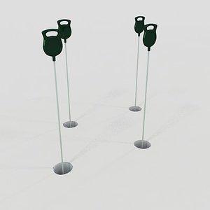 putting green pins 3d model