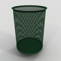 3ds max perforated metal trash trashcan