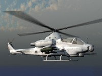 AH-1Z Viper Cobra USMC Helicopter Gunship Game Ready Model