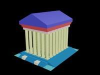 3d artemis tempel model
