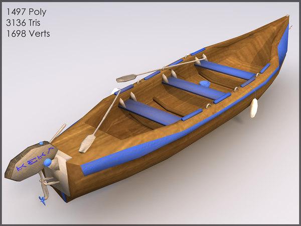 blue boat games 3d model
