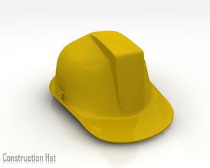 3d consturction hat