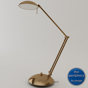 hilton desk lamp 3d model