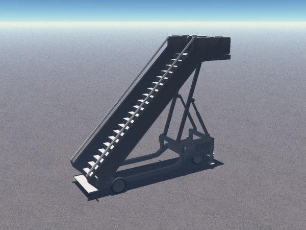 3d escalier passengers stairs model
