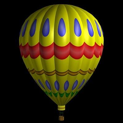 hot air balloon bl 3d model