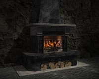 fireplace 3d 3ds