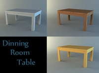 dinning room table 3d model