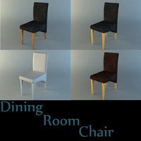 leather dining room chair 3d 3ds