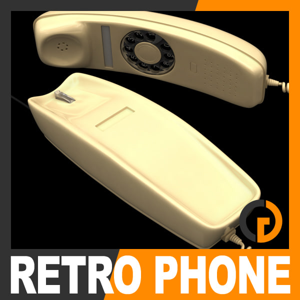 3ds max retro style telephone -