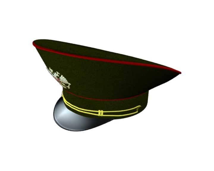 3d model hat russian officer