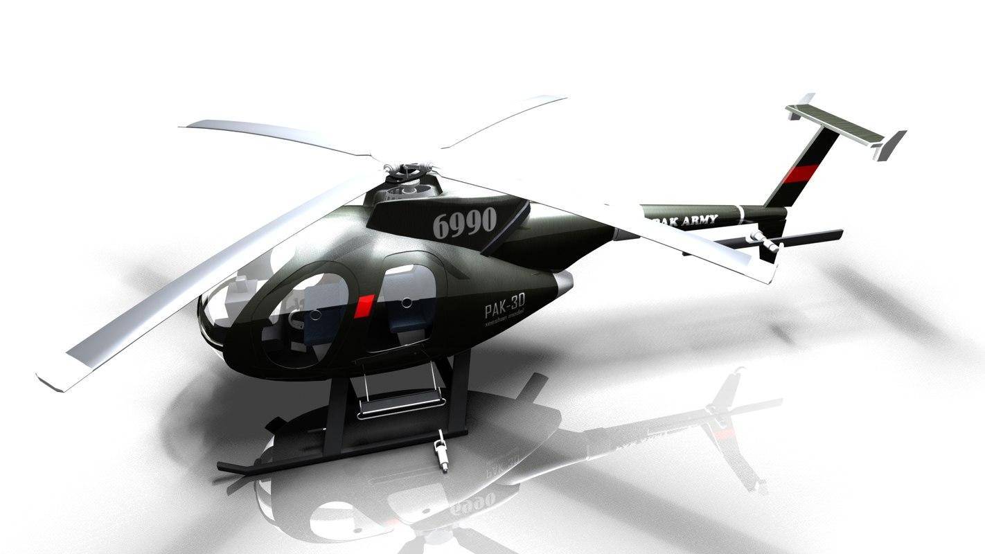 md 500 3d model