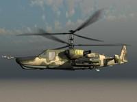 KA-50 Hocum Russian Attack Helicopter Gunship Game Ready Model