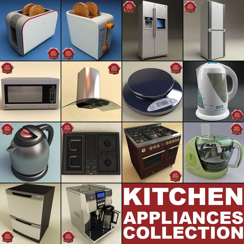 kitchen appliances v2 3d model