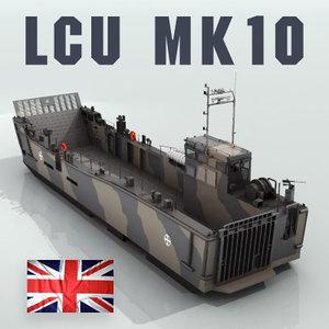 lcu mk10 landing craft 3ds