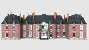 castles louis xiv 3d model