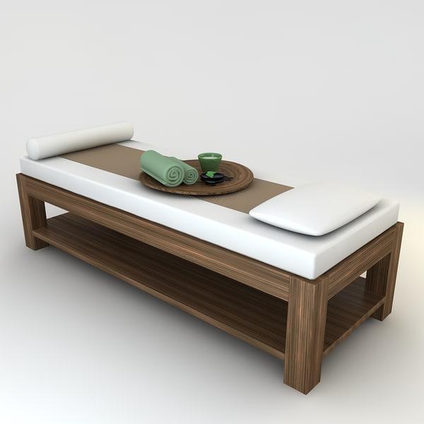 3d massage bed scene model