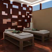 scene spa massage 3d model
