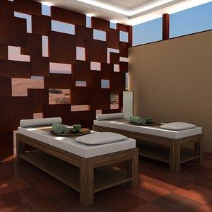 scene spa massage 3d model