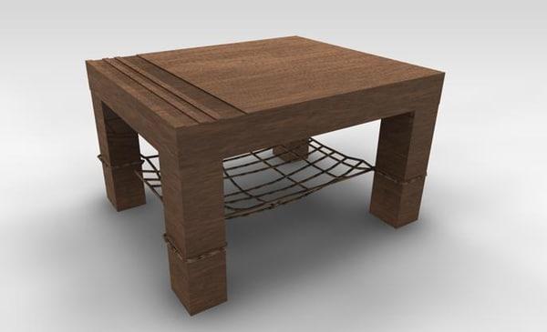 cinema4d table designed end
