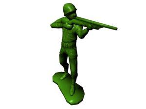3d model plastic army man -