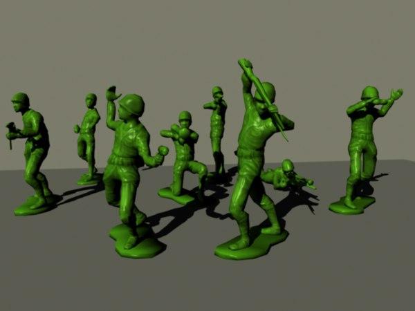 3d model plastic army man