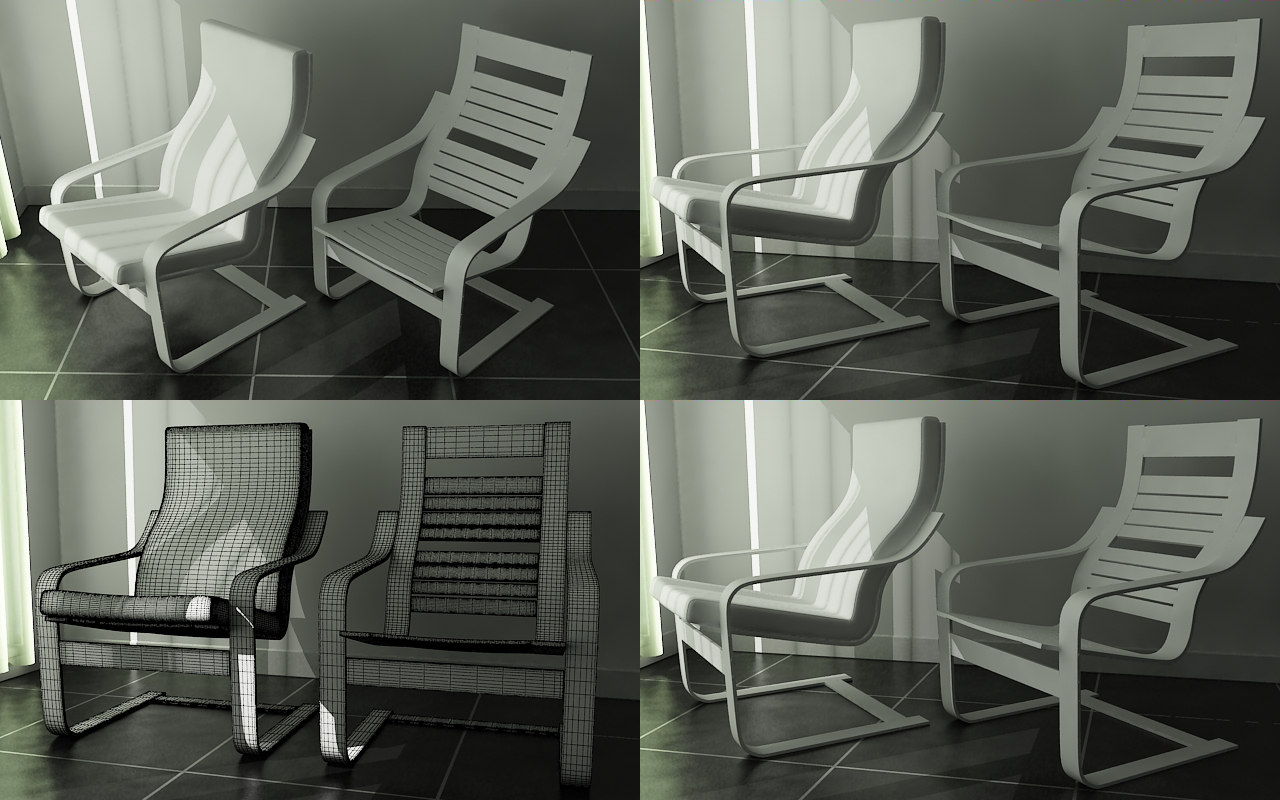 Poang chair living room - Poang Chair 3d Max