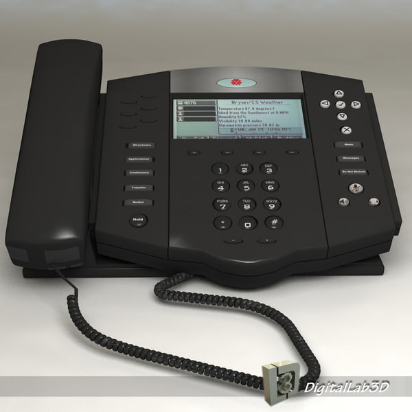 polycom telephone old 3d 3ds