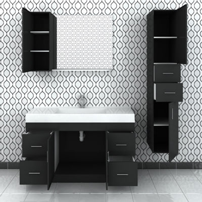 bathroom cabinets 3d model