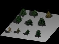 S01- S10 Optical Trees Collection - Very Low Poly - by Xacta  3D models