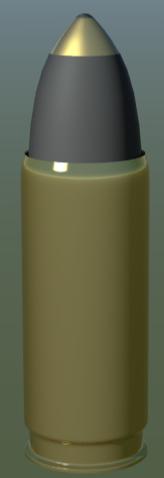 free bullet shell 3d model