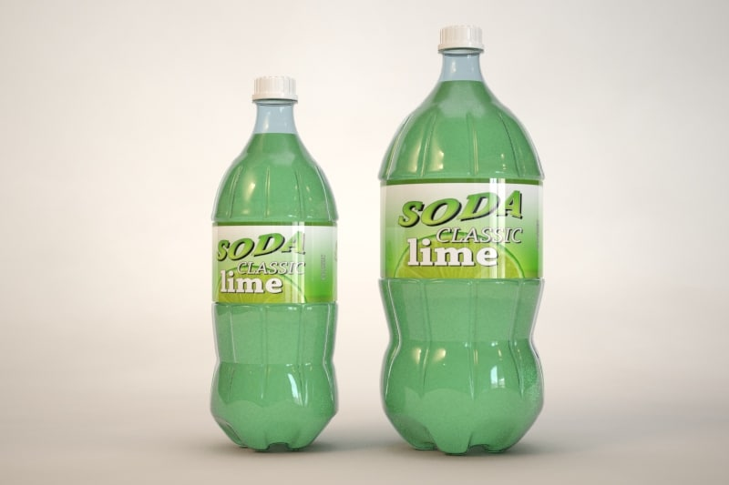 3d model plastic bottles soda pop