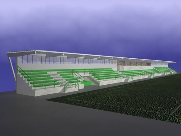 3ds max stadion stand seats