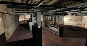 technical room levels 3d model