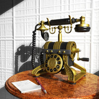 telephone phone 3d model