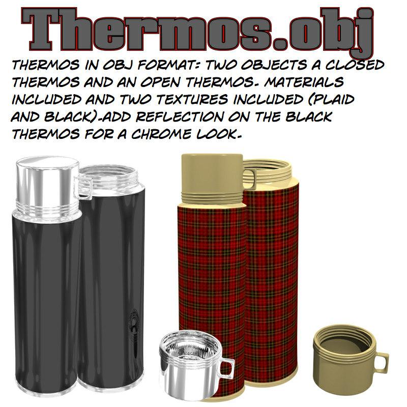 thermos 3d obj