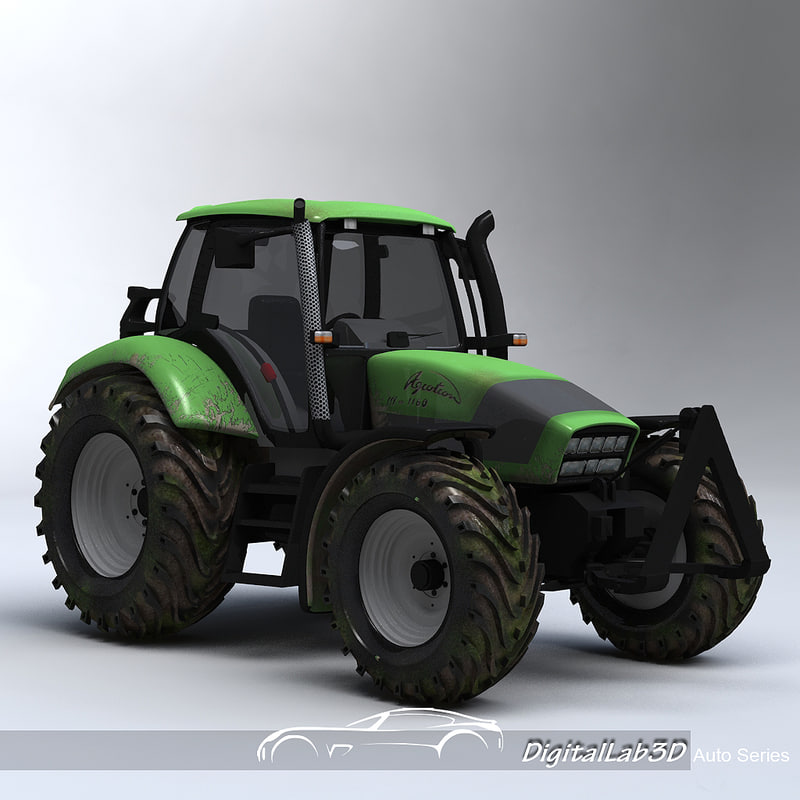 traktor tractor 3d model
