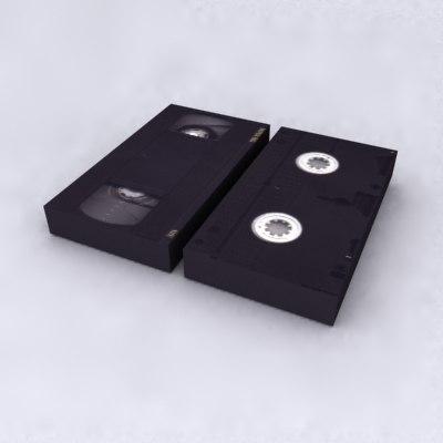 video tape vhs 3d model
