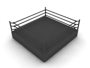 3d boxing wrestling ring model
