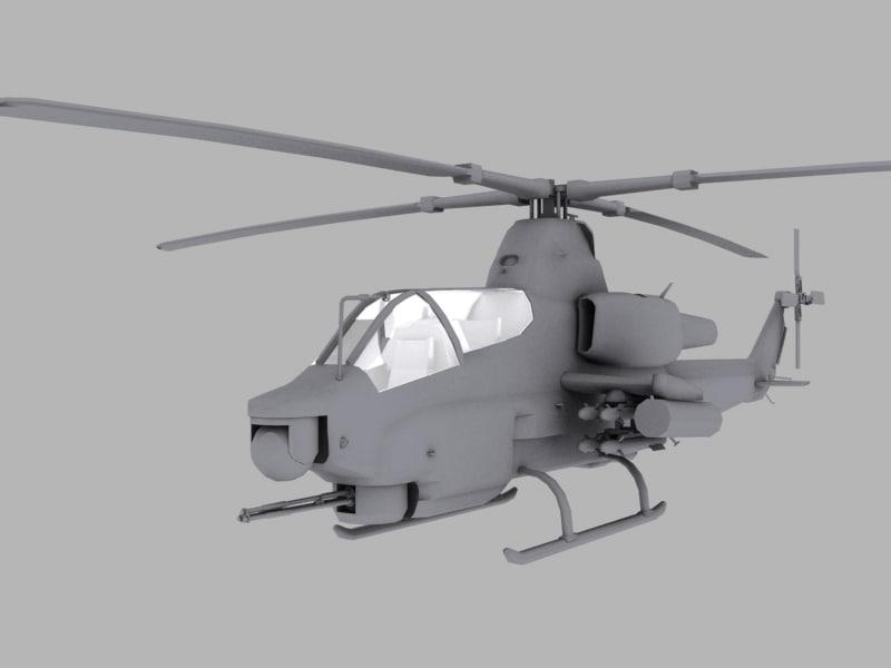 ah-1z cobra viper marines 3d model
