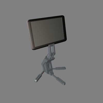 hi tech display monitor 3d model